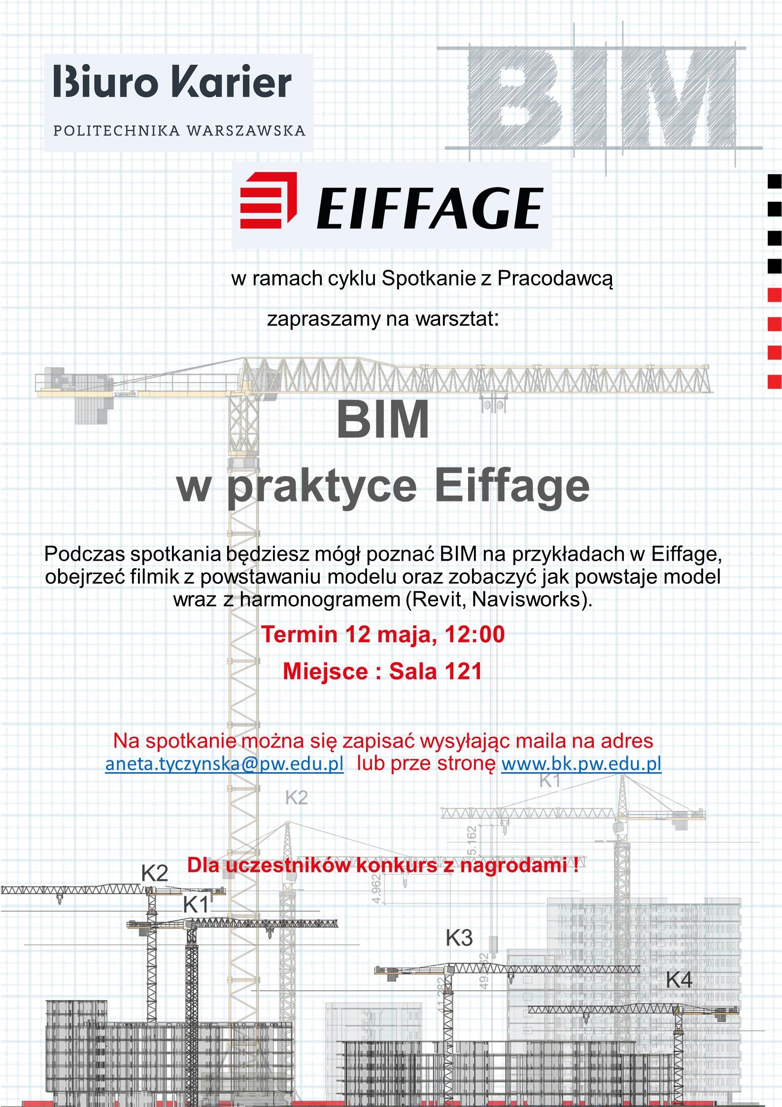 """Spotkanie z pracodawcą : Eiffage """"BIM w praktyce"""""""