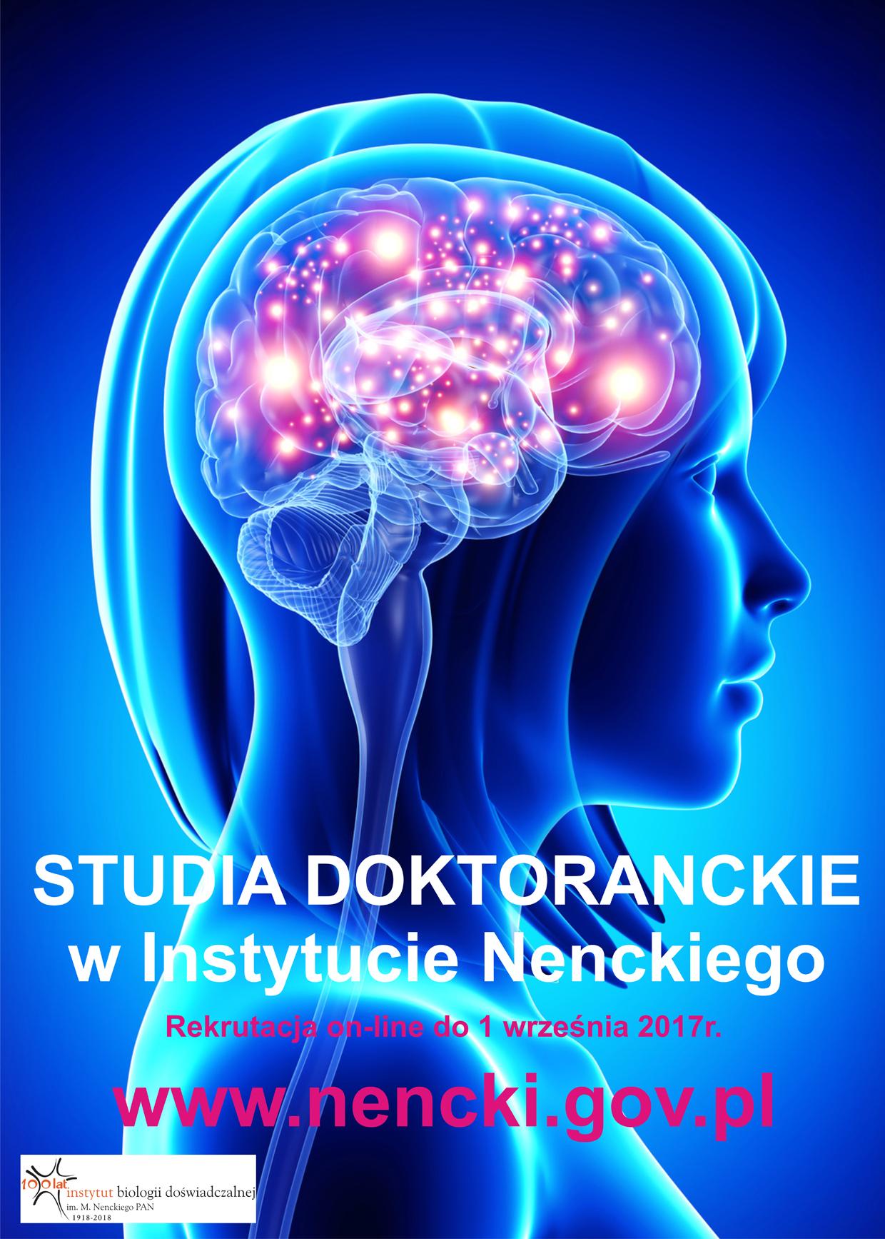 Instytut Biologii Doświadczalnej im. M. Nenckiego PAN ogłasza nabór na studia doktoranckie.