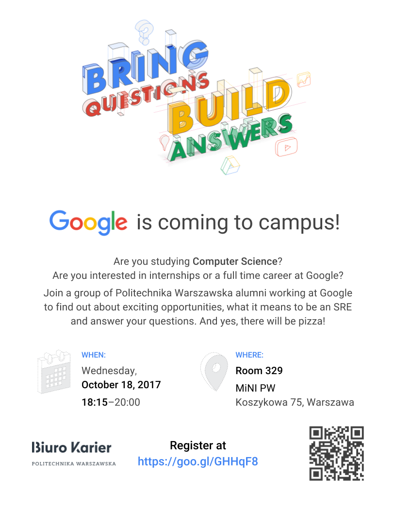 Google is coming to campus!