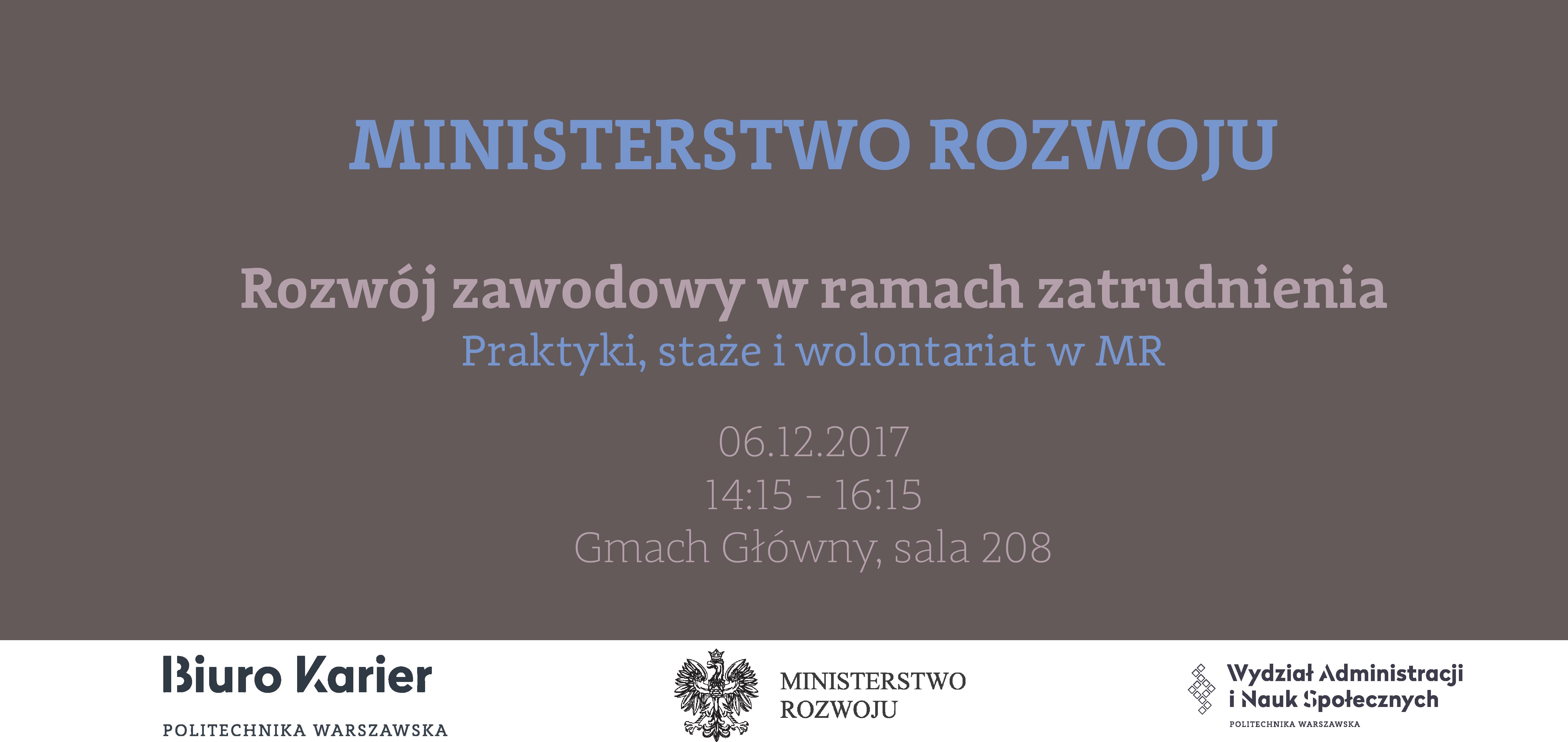 Spotkanie z Ministerstwem Rozwoju na WAiNS