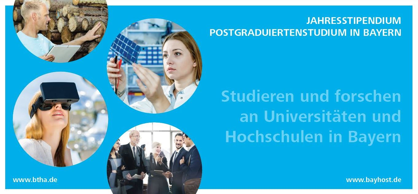 One-year scholarship program sponsored by the Free State of Bavaria 2020/21