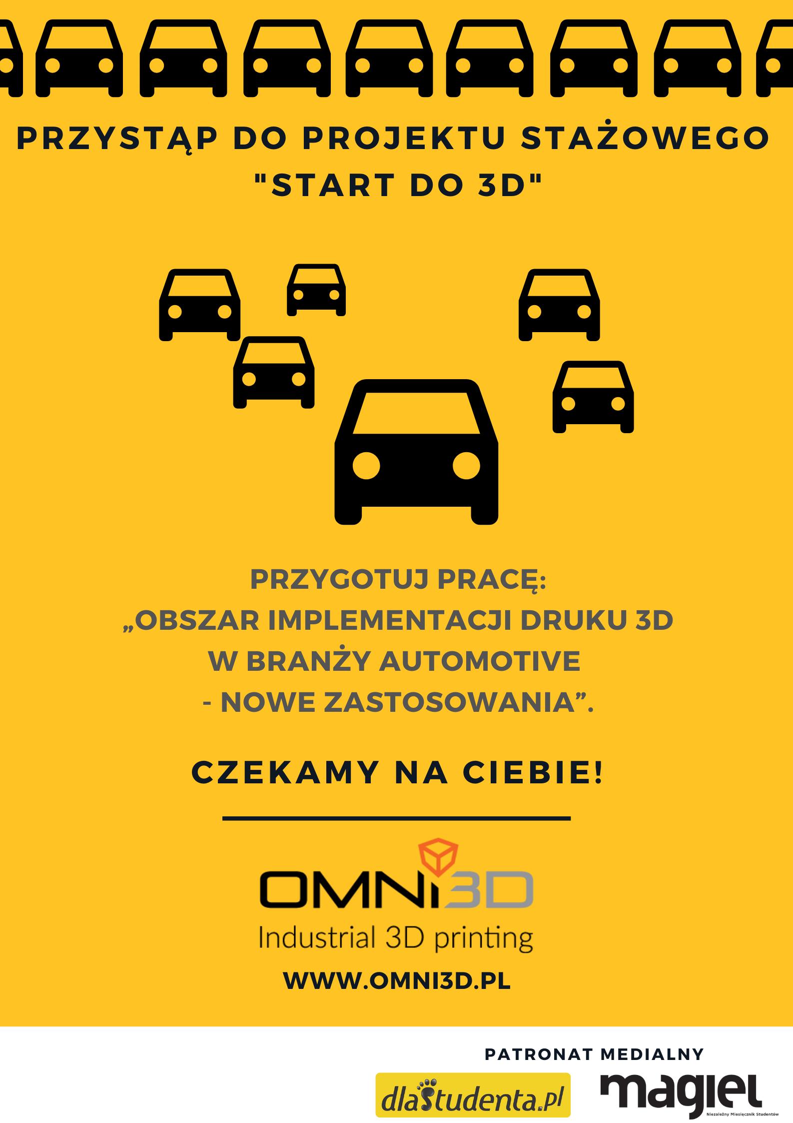 """Projekt stażowy """"START do 3D"""" – II edycja"""