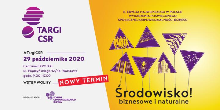 Nowy termin 8. Targów CSR: 29 października 2020 r.