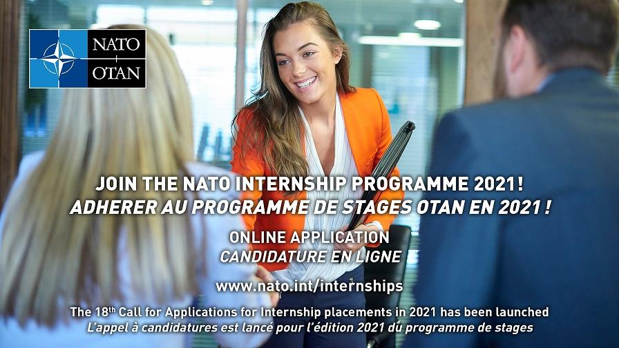 NATO's Internship Programme / Program Staży Studenckich na 2021 r. w Kwaterze Głównej Organizacji Traktatu Północnoatlantyckiego (North Atlantic Treaty Organization - NATO)