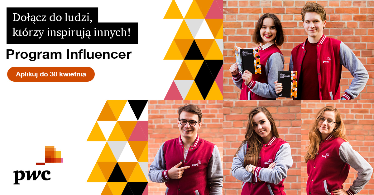 Influencer PwC - program ambasadorski