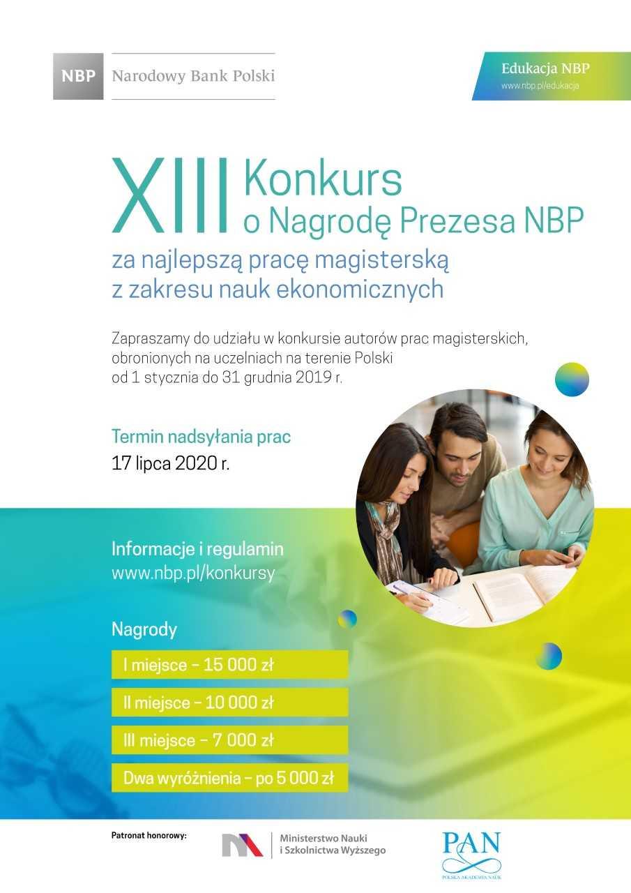 Konkursy o Nagrodę Prezesa NBP za najlepszą pracę magisterską, doktorską i habilitacyjną z zakresu nauk ekonomicznych