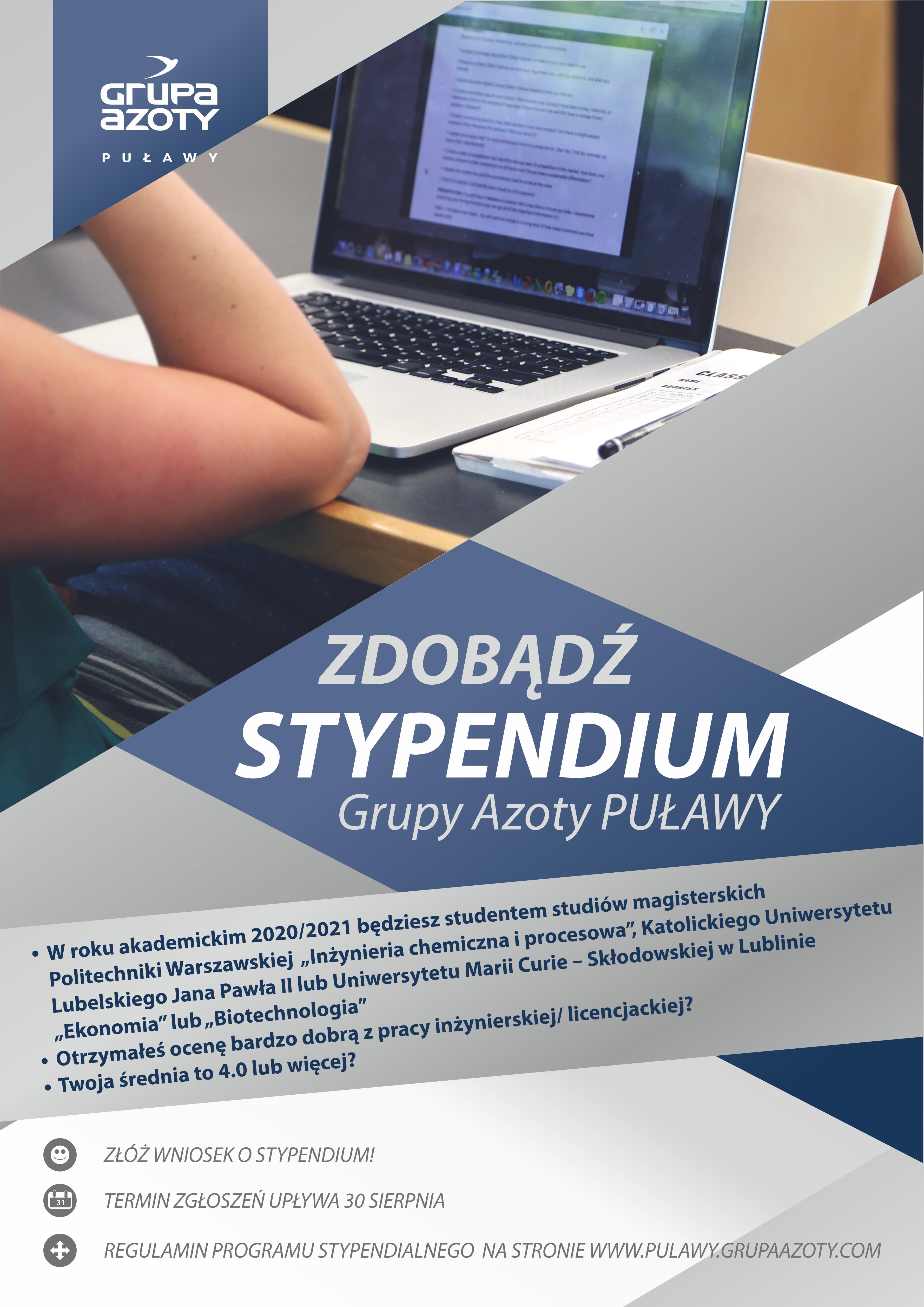 Grupa Azoty Puławy przyznaje stypendia