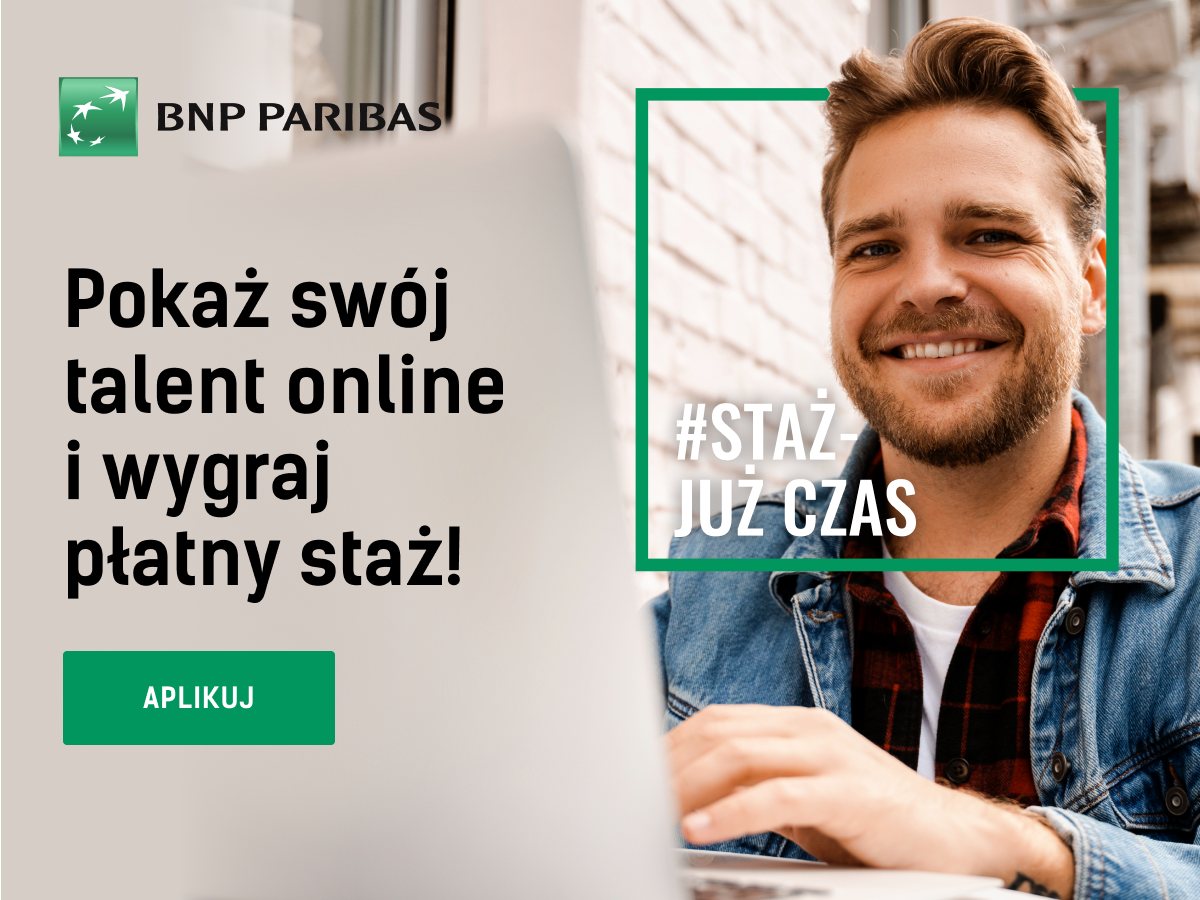 Program #StażJużCzas w BNP Paribas Bank Polska