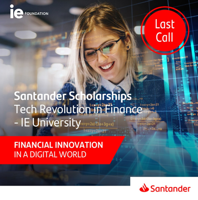Darmowe szkolenia online z certyfikatem - Stypendium Santander Tech Revolution In Finance – IE University