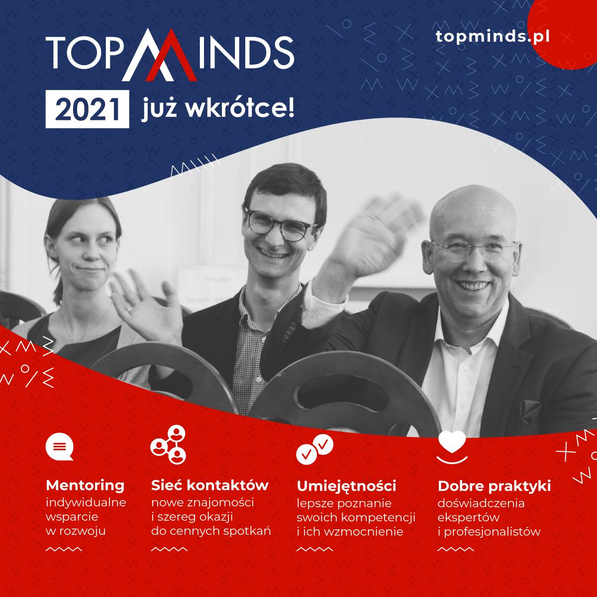 Program mentoringowy TopMinds 2021 – zapraszamy do udziału!