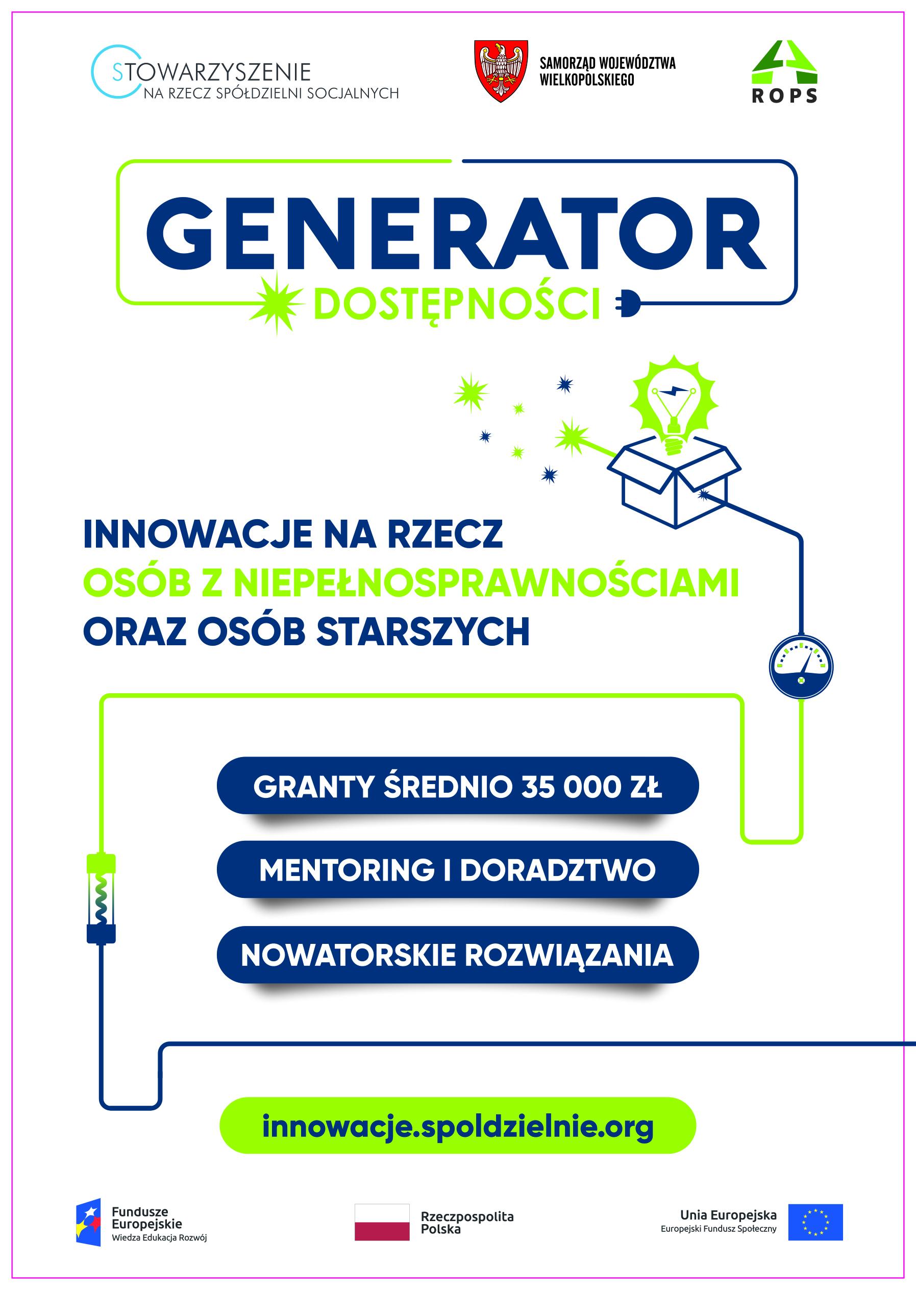 Generator Dostępności. Granty na projekty w obszarze dostępności
