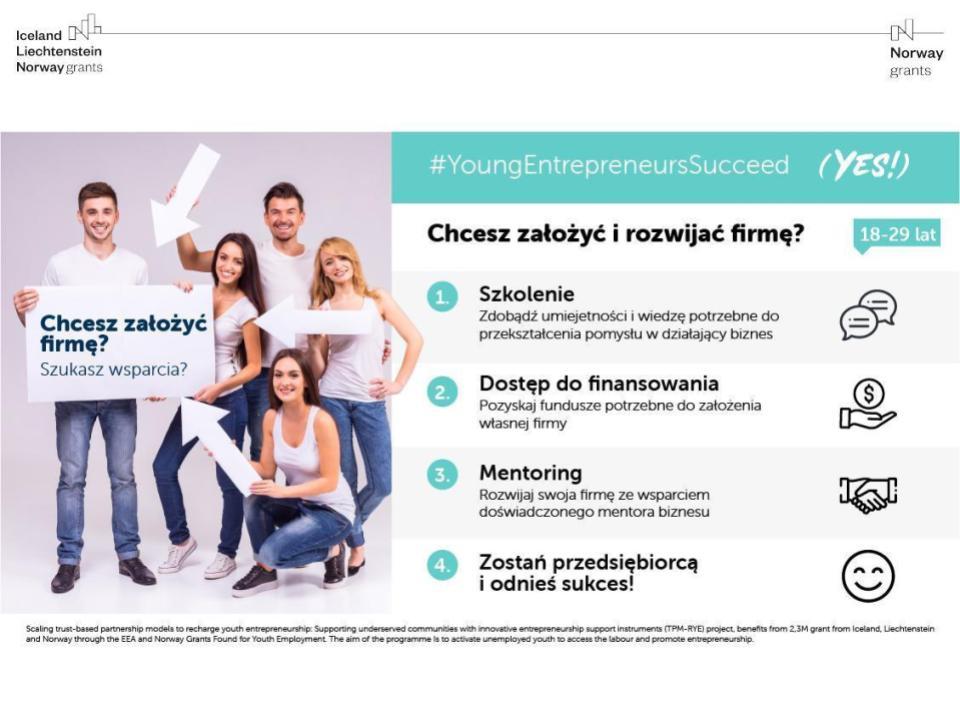 Program rozwoju dla młodych przedsiębiorców YES!