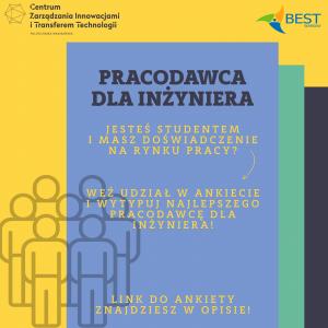 Pracodawca dla Inżyniera- ankieta Działu Badań i Analiz i Stowarzyszenia Studentów BEST