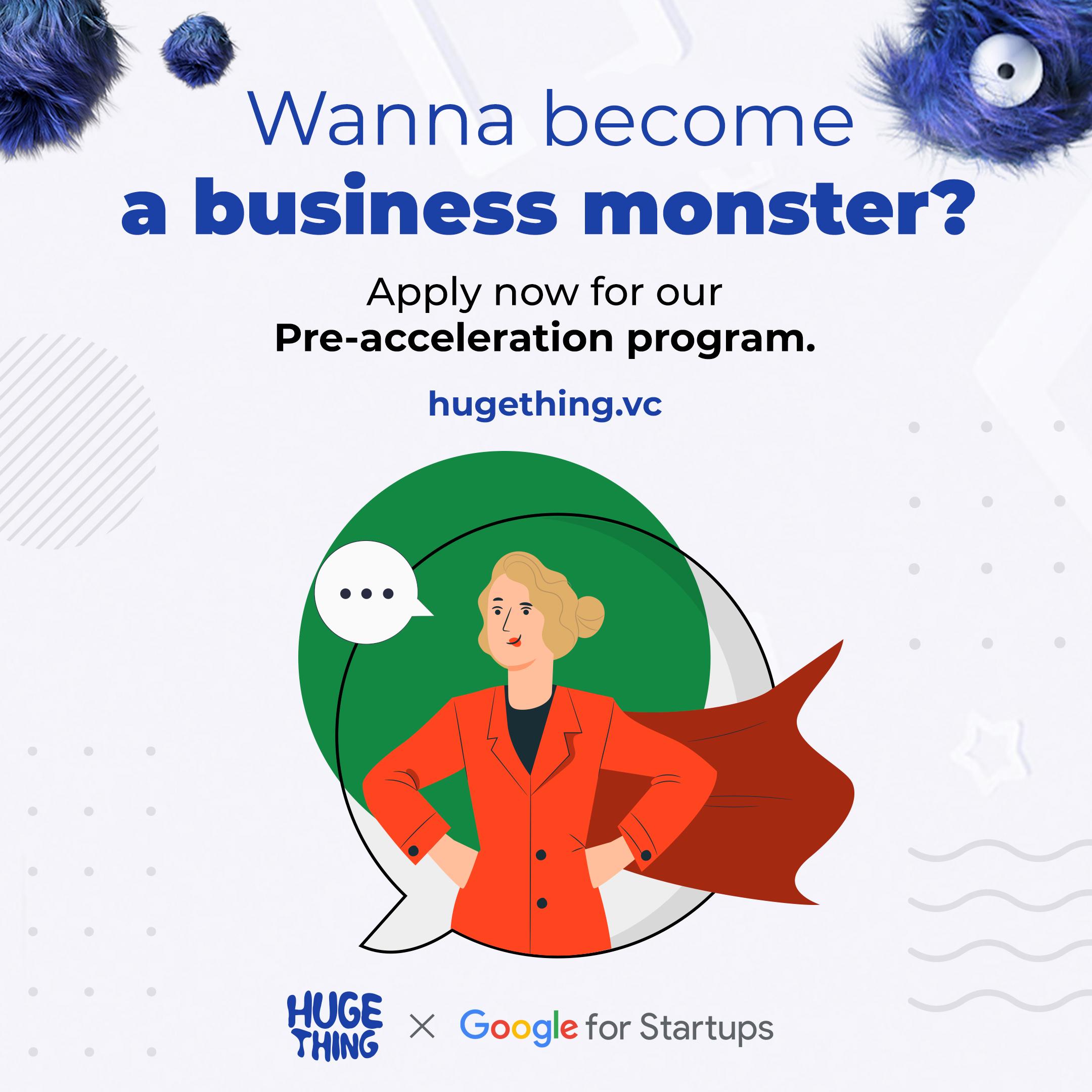 Huge Thing otworzył nabór do 9 edycji programu Pre-akceleracyjnego realizowanego przy współpracy z Google for Startups.