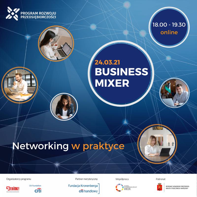Spotkanie online pt. Networking w praktyce organizowanym przez Fundację THINK! i Fundację Citi Handlowy im. L. Kronenberga