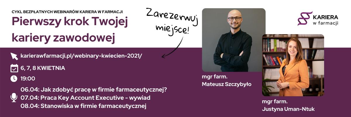 Cykl bezpłatnych webinarów, dotyczących pracy w farmacji – 6, 7, 8 kwietnia