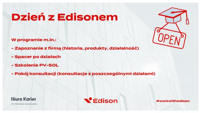 Dzień z Edisonem (wydarzenie stacjonarne w siedzibie firmy)